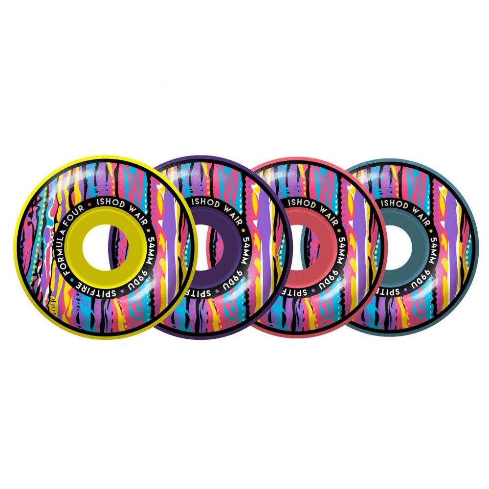 Spitfire Wheels Formula Four Classic Juicy Mashup Ishod Wair Skateboard Wheels | 54mm - TVSC