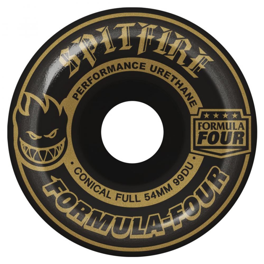 Spitfire Wheels Spitfire Formula Four Blackouts Skateboard Wheels Black Conical 99DU | 54mm - TVSC