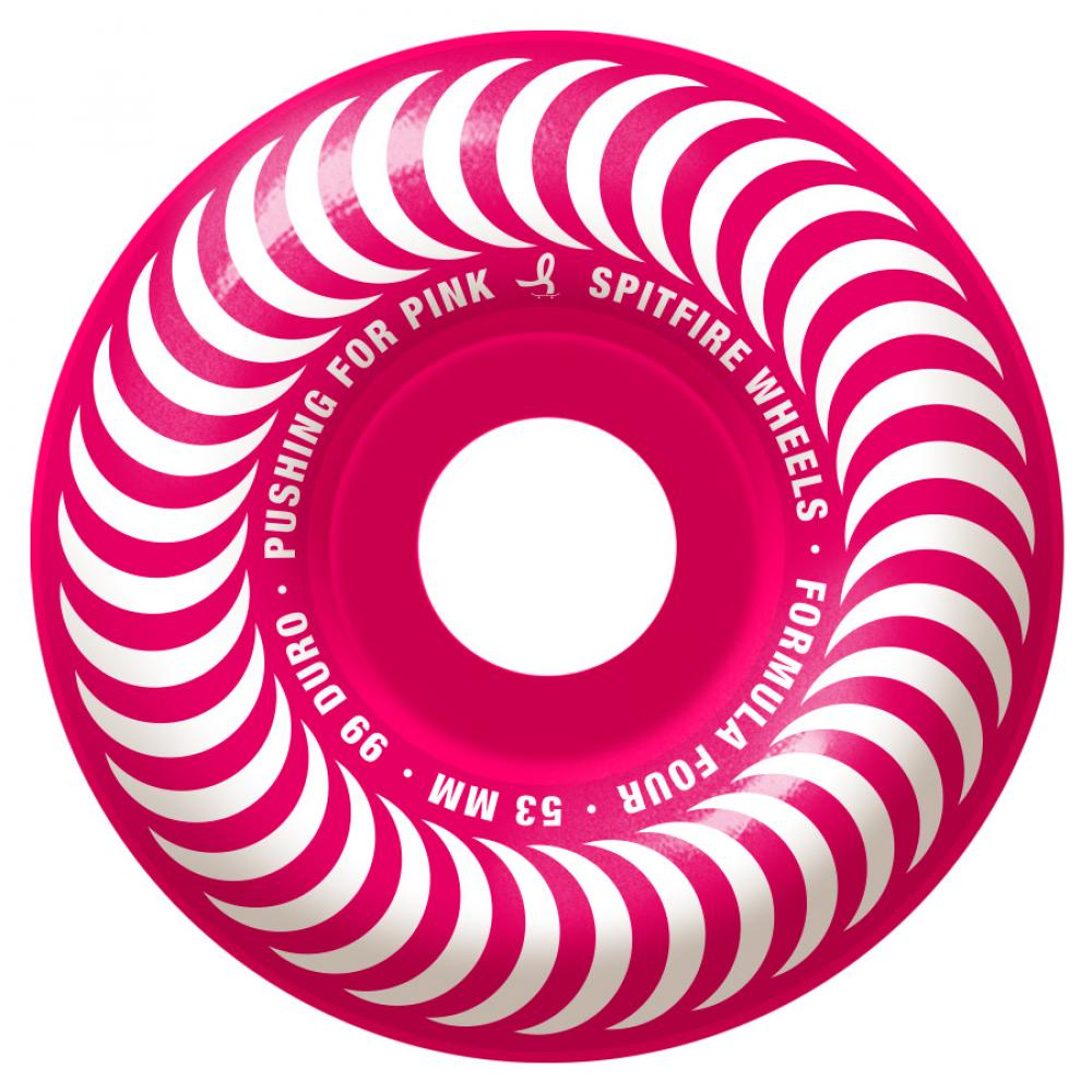 Spitfire Wheels Spitfire Formula Four Pushing For Pink 99 Skateboard Wheels | 53mm - TVSC