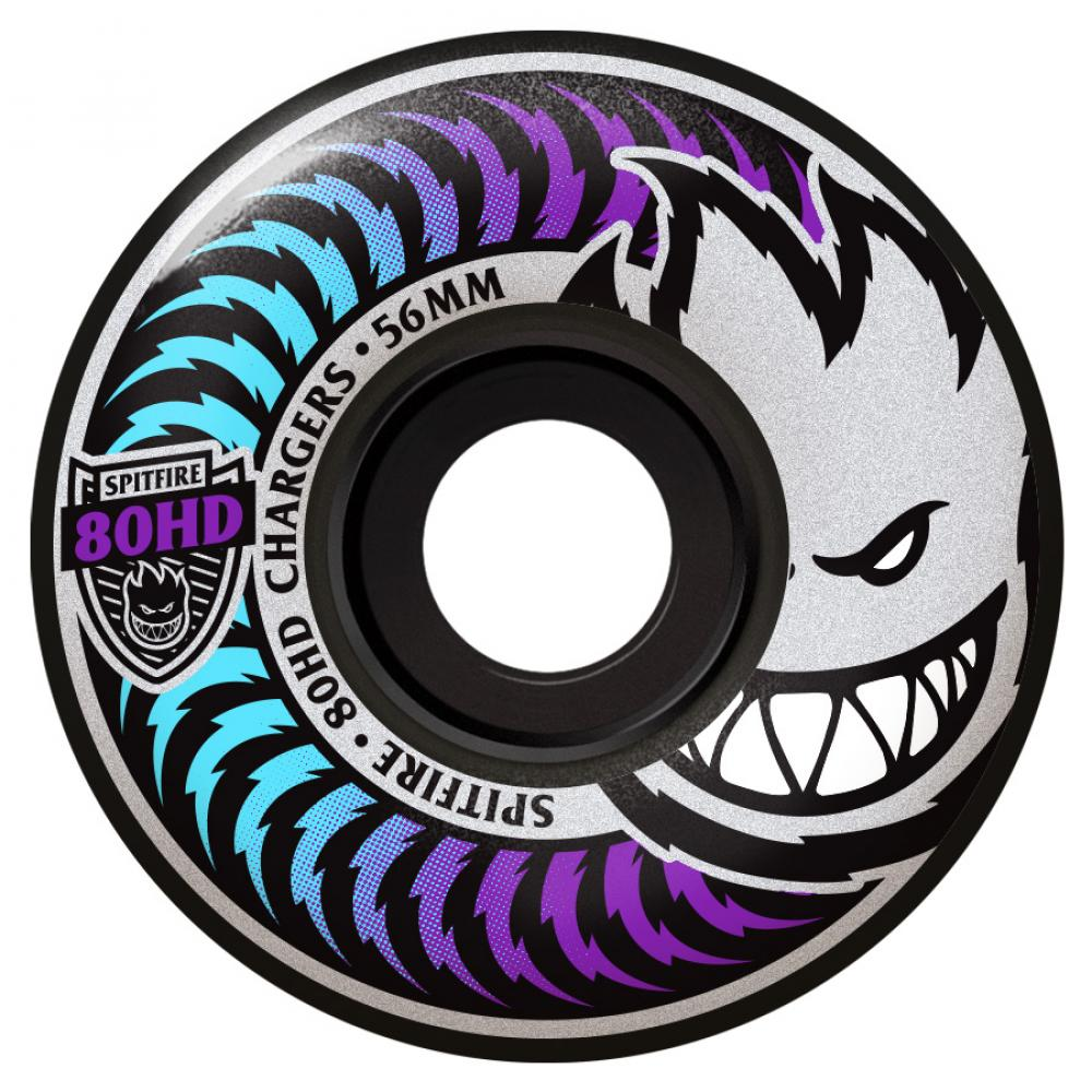 Spitfire Wheels Spitfire Chargers Soft Skateboard Wheels Black 80HD | 56mm - TVSC