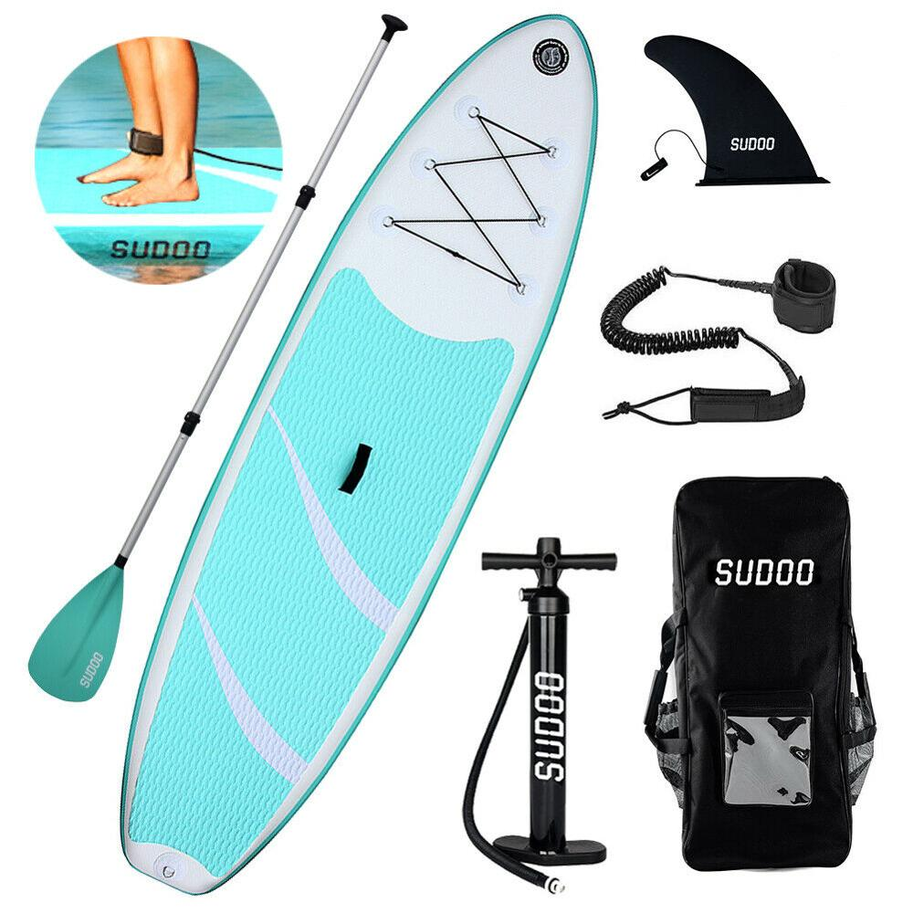 "SRFDA SUP Paddle Board 10'6"" Stand Up Paddle Surf Board With Leash, Fins, Paddle & Bag"