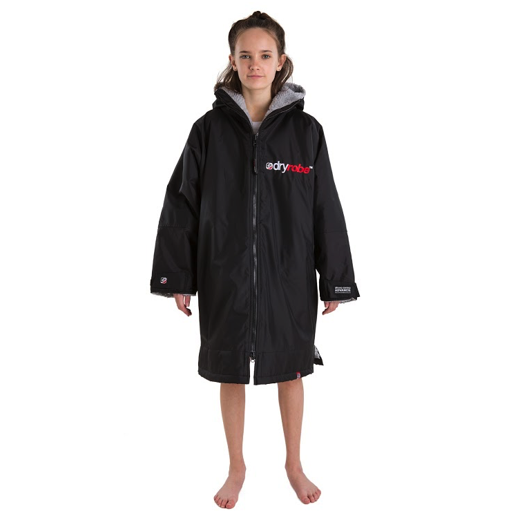 Dryrobe Dryrobe Advance Long Sleeve Changing Robe | Black & Grey - TVSC