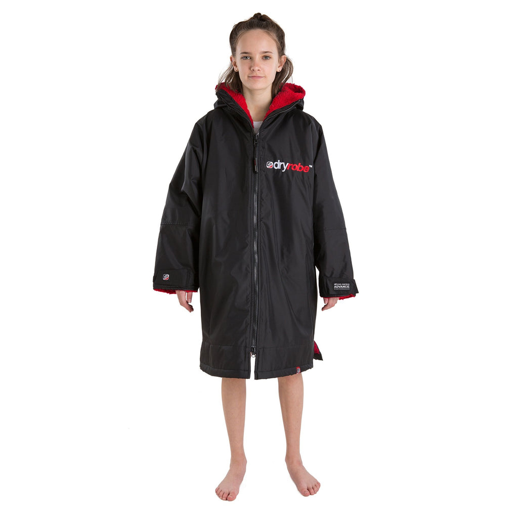 Dryrobe Dryrobe Advance Long Sleeve Changing Robe | Black & Red - TVSC