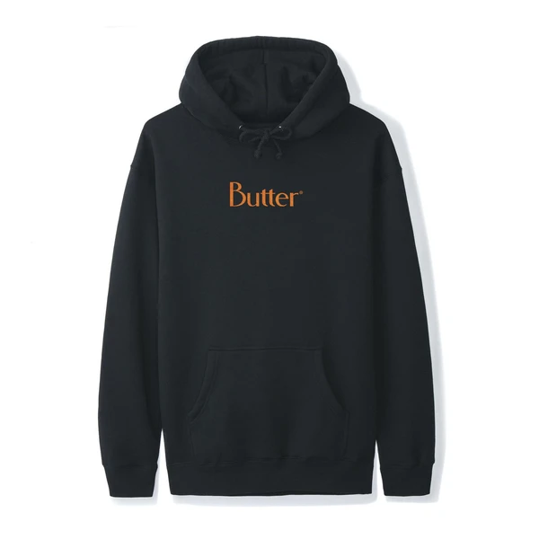 Butter Goods Speckle Classic Logo Pullover Hoodie | Black