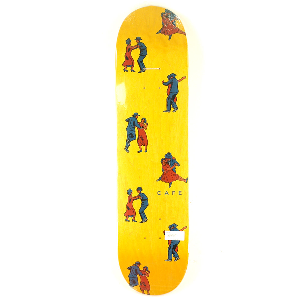 "Skateboard Cafe Skateboard Cafe Dance All Over Deck Yellow | 8.25"" - TVSC"