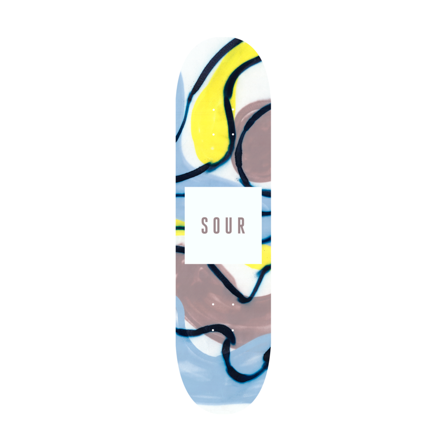 Sour Solution Sour Spray Skateboard Deck | 8.25""