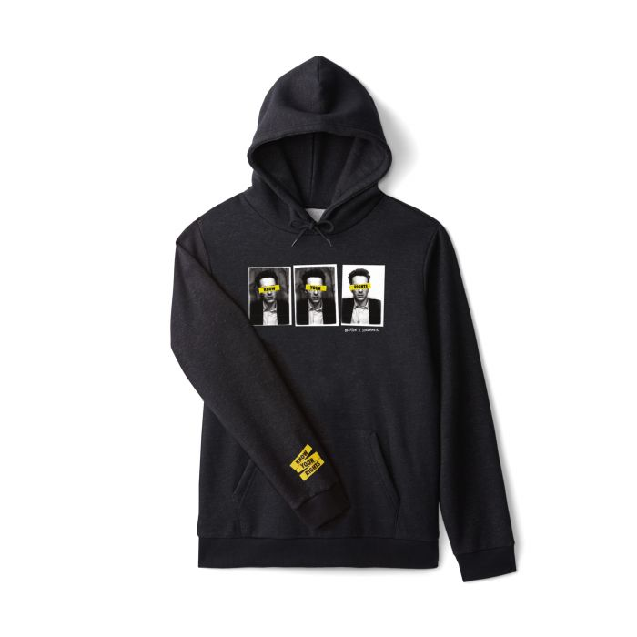 Brixton x Strummer Know Your Rights Hoodie | Black