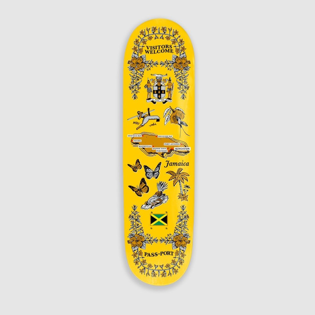 "Pass~Port Pass~Port JamaicaTea Towels Skateboard Deck Yellow | 8.5"" - TVSC"