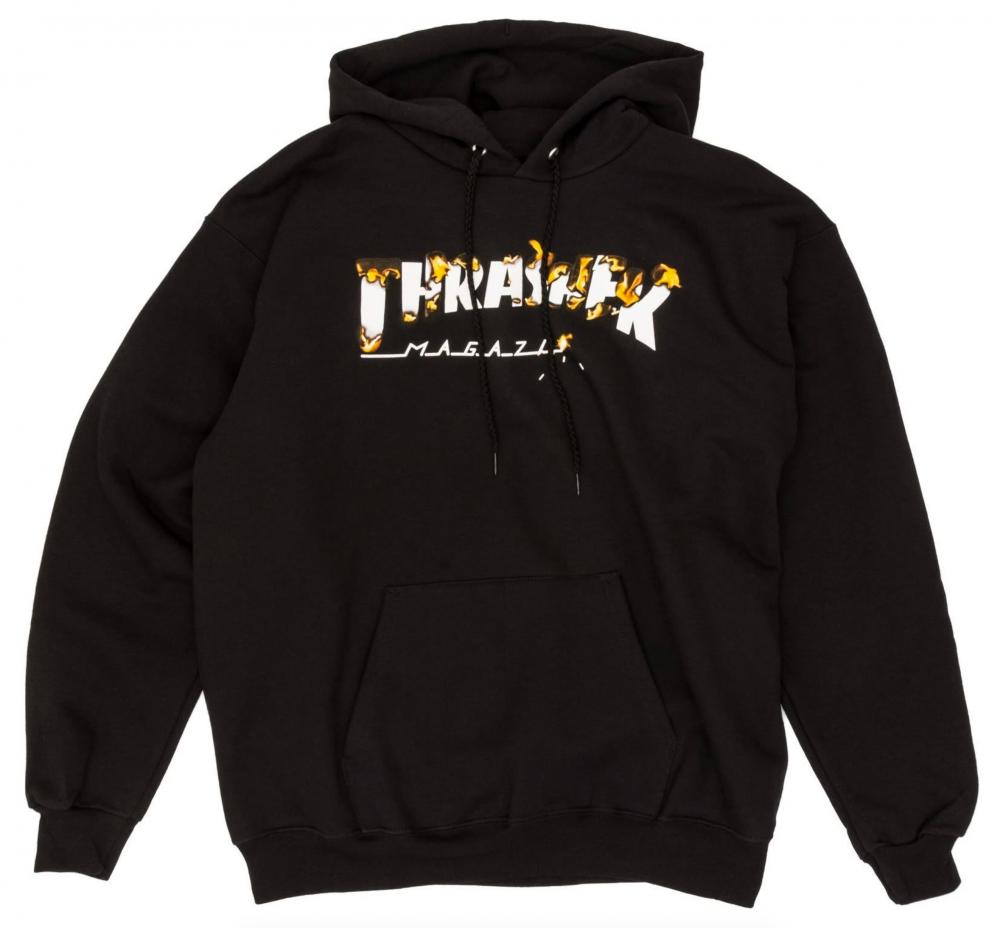 Thrasher Burner Intro Hoodie | Black - TVSC