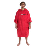 Towel DryRobe Short Sleeve Red Large Front | TVSC