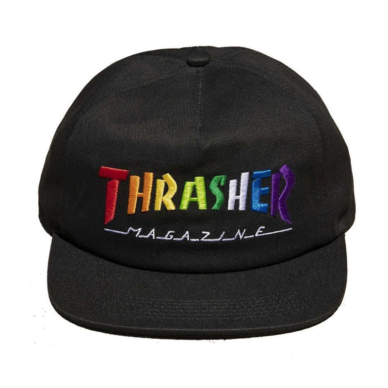 Thrasher Rainbow Snapback Cap | Black
