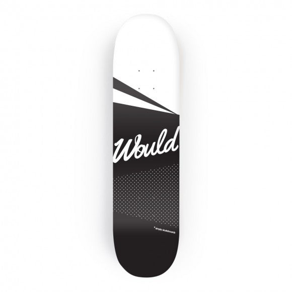 Would Skateboards B&W Polka Deck - TVSC