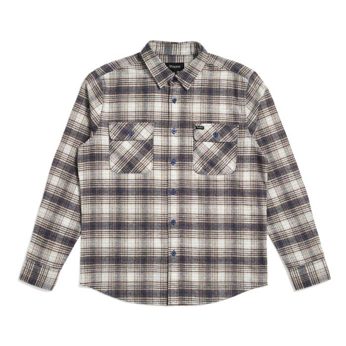 Brixton Brixton Bowery Long Sleeve Flannel Shirt | Twilight Blue - TVSC