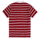Magenta Striped Polo T-shirt | Red back