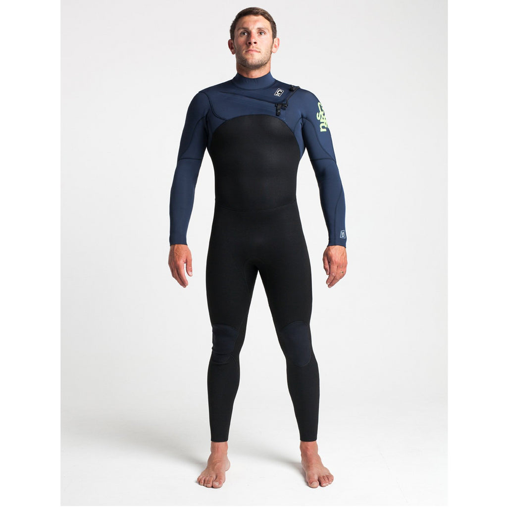 C-Skins C-Skins Legend Mens Chest Zip Steamer 3:2 Wetsuit | Black, Blue & Lime - TVSC