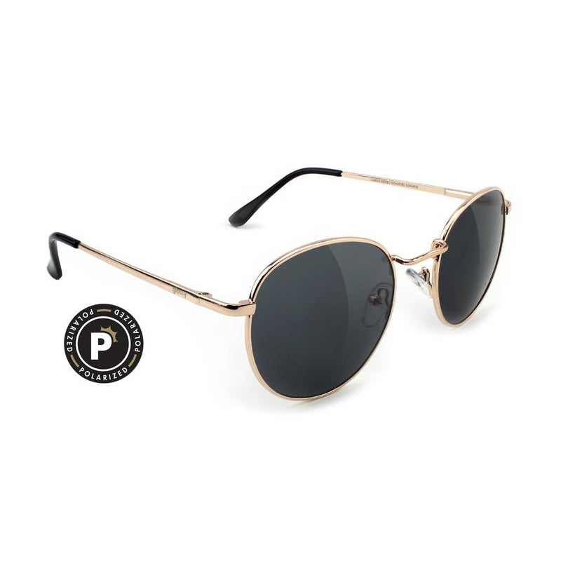Glassy Glassy Carlos Polarized Sunglasses | Gold - TVSC