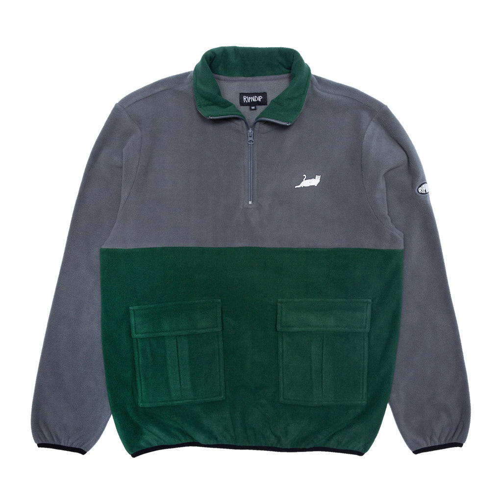 Rip N Dip Castanza Split Half Zip | Hunter/Grey