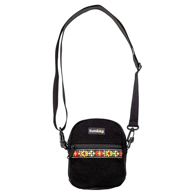 The Bum Bag Co Renfro Shoulder Bag | Black neck loop
