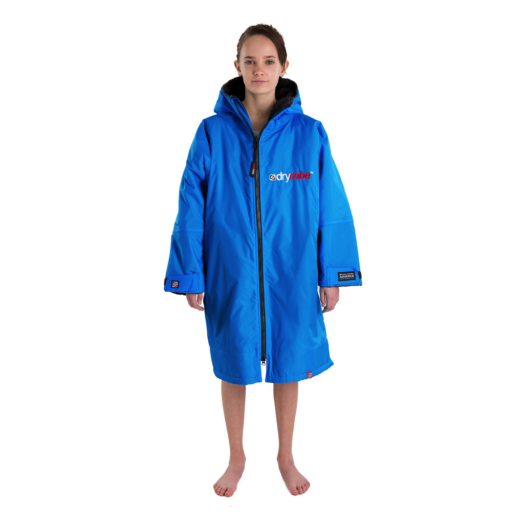 Dryrobe Dryrobe Advance Long Sleeve Changing Robe | Cobalt Blue & Grey - TVSC