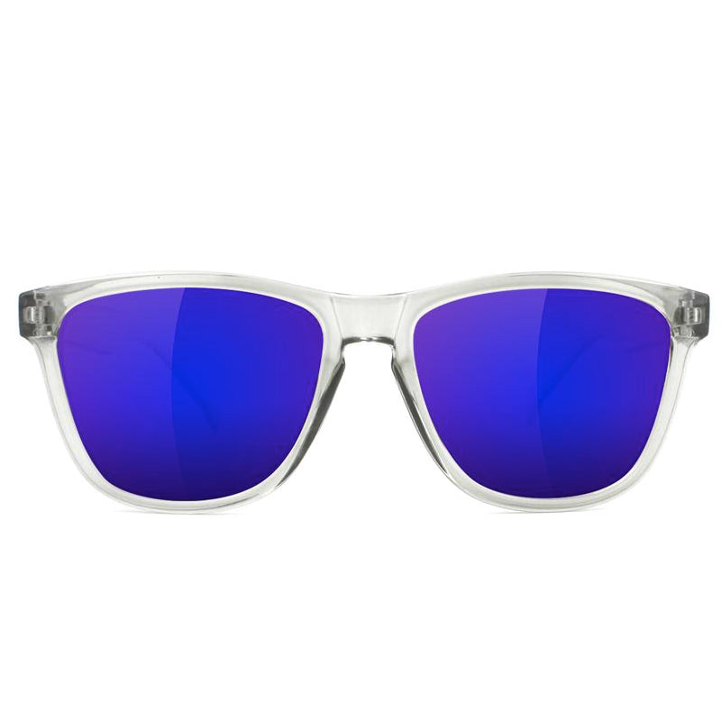 Glassy Glassy Deric Sunglasses | Clear & Blue - TVSC