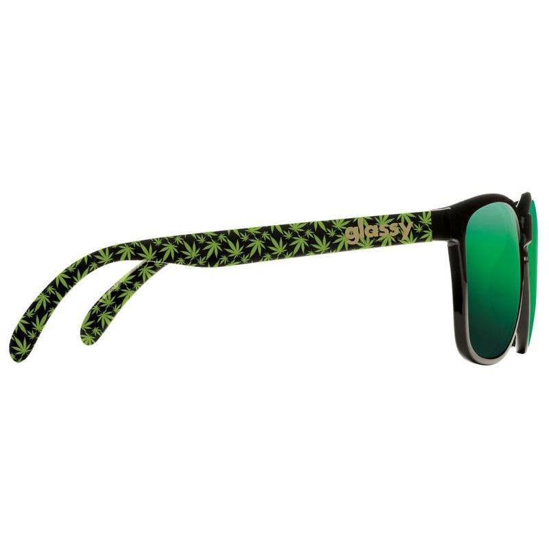 Glassy Glassy Deric Kronik Sunglasses | Black & Green - TVSC