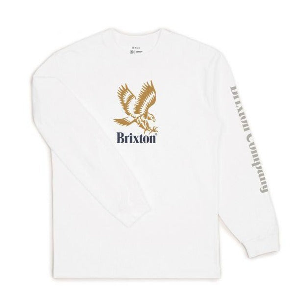 Brixton Descent III L/S T- Shirt | White
