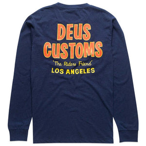 Deus Ex Machina Walrus LS T-Shirt | Navy