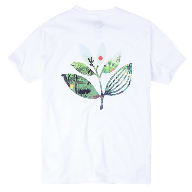 Magenta Jungle 2 T-shirt | White - TVSC