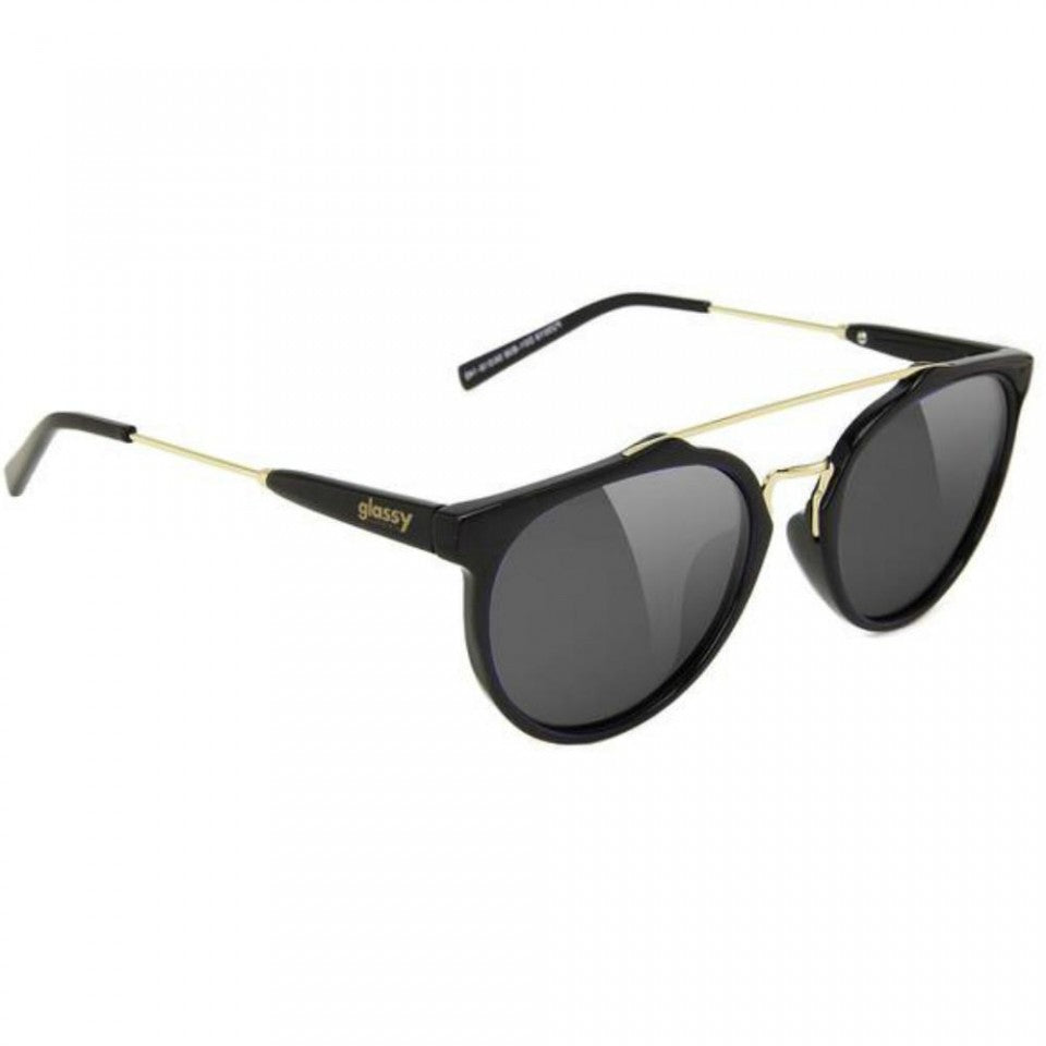 Glassy Glassy Chuck Sunglasses | Black & Gold - TVSC