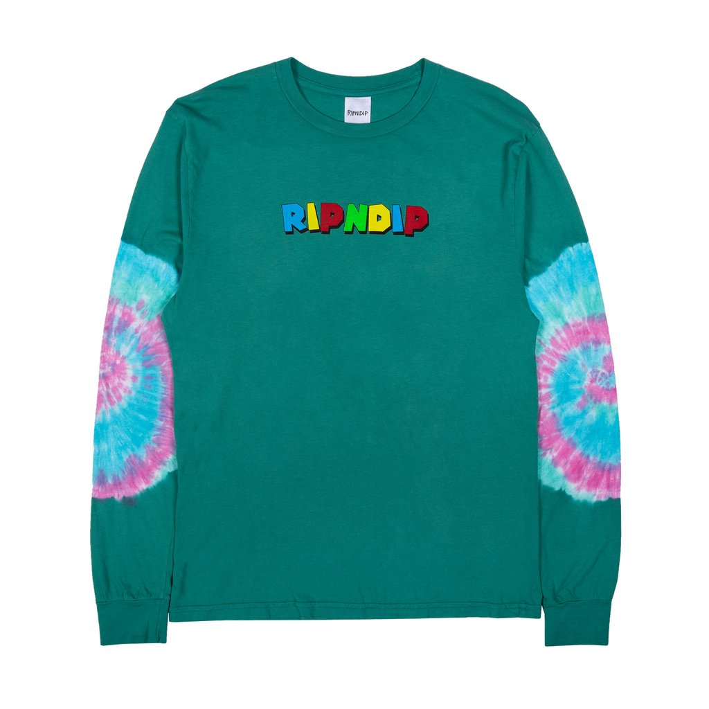 RipnDip Rip N Dip Nermio Long Sleeve T-Shirt | Aqua Elbow Wash - TVSC