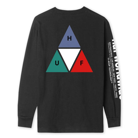 HUF Prism Long Sleeve T-Shirt Flatlay Back | Black