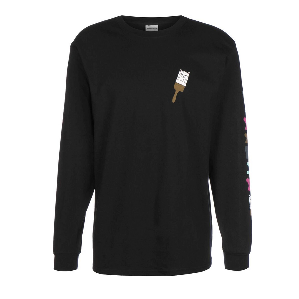 Rip N Dip Beautiful Mountain Long Sleeve T-Shirt | Black
