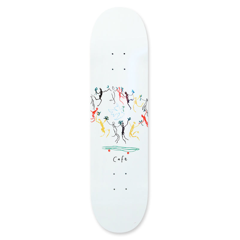 Skateboard Cafe Peace Deck White | 8