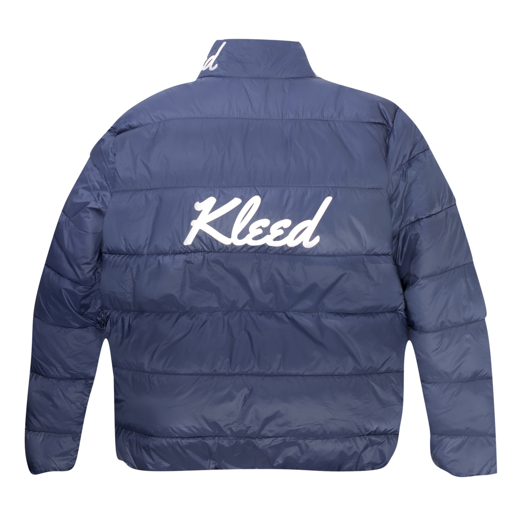 Kleed Logo Puffer Jacket | Blue - TVSC