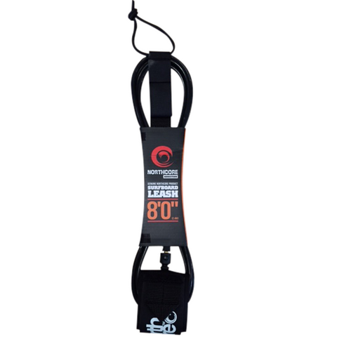 Northcore Addiction Leash 7mm Black 8ft - TVSC