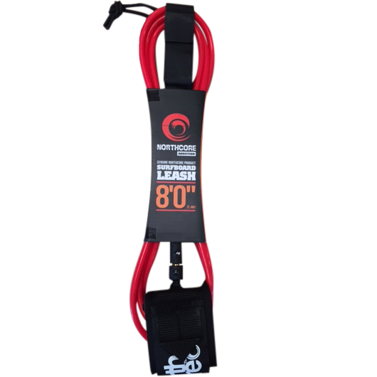 Northcore Addiction Leash 7mm Red 8ft - TVSC