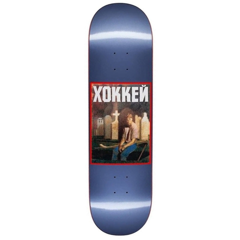 Hockey Nik Stain Skateboard Deck Blue | 8.5