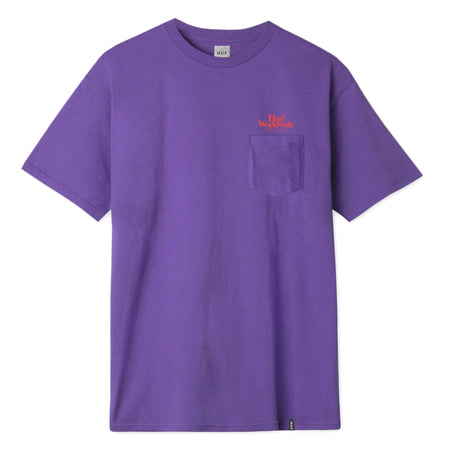 HUF Issue Logo Pocket T-Shirt | Purple - TVSC