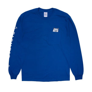 Rip N Dip Lord Nermal Long Sleeve Pocket T-Shirt | Royal Blue