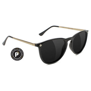 Glassy Glassy Mikey II Polarized Sunglasses | Black & Gold - TVSC