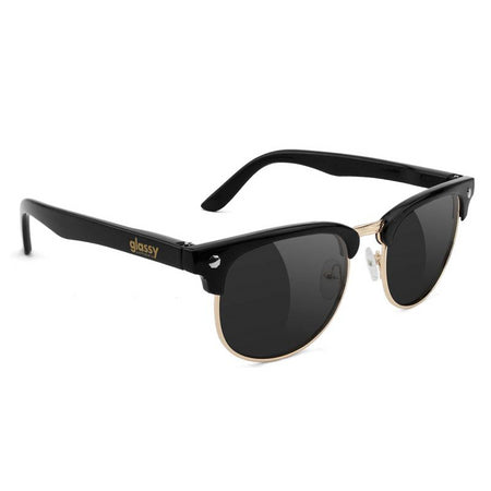 Glassy Glassy Morrison Polarized Sunglasses | Black & Gold - TVSC