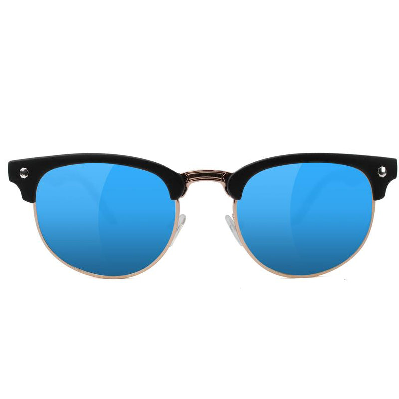 Glassy Glassy Morrison Polarized Sunglasses | Black & Blue - TVSC
