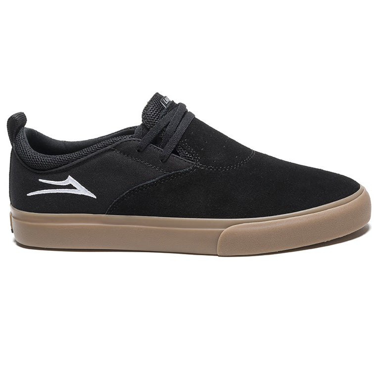 Lakai Riley 2 Suede Skate Shoe | Black & Gum side