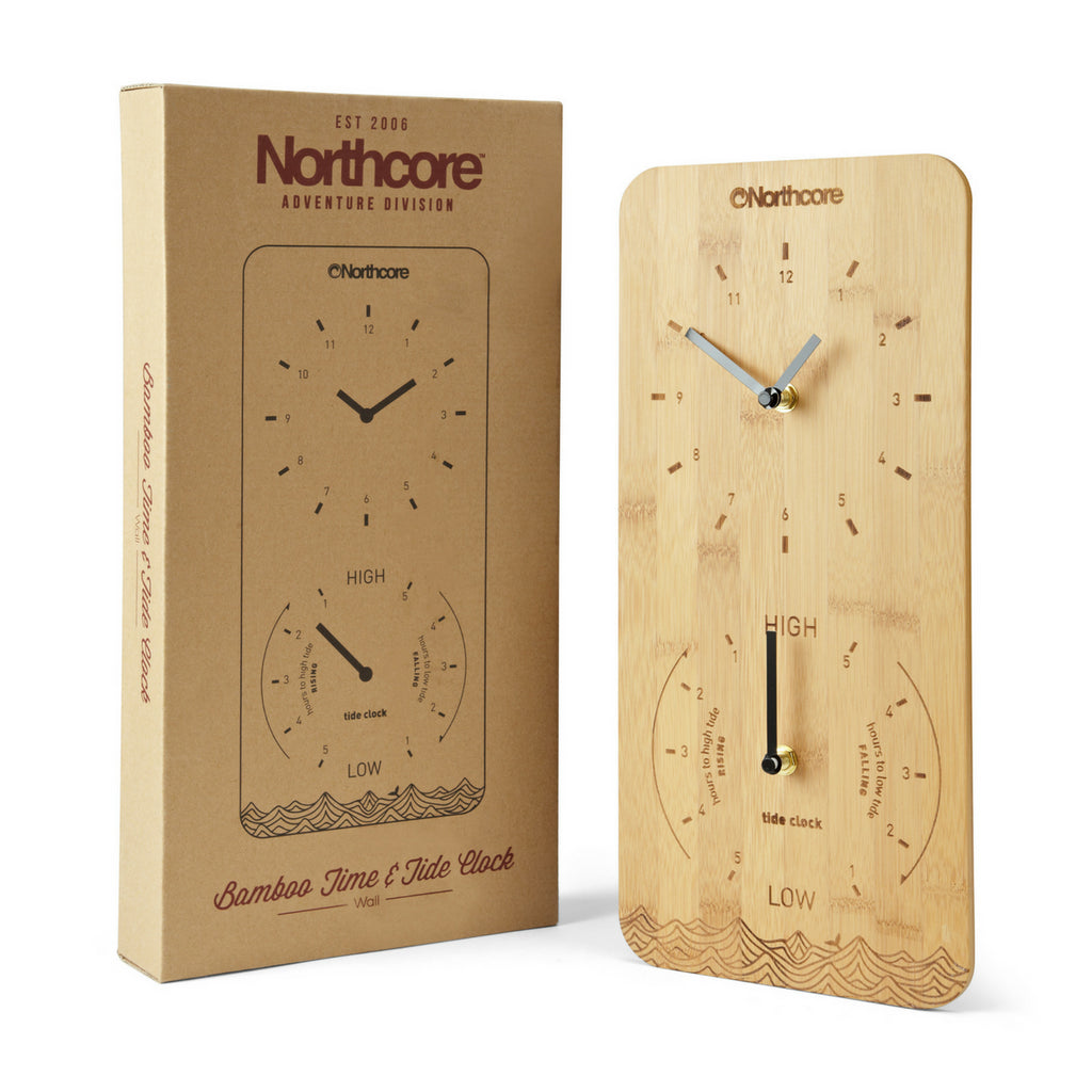 Northcore Northcore Bamboo Tide & Time Clock | Wall Mounted - TVSC