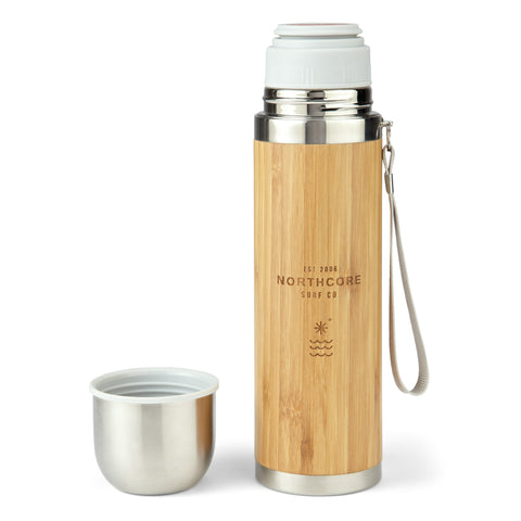 Collective Bamboo Stainless Steel Thermos Flask with Mug