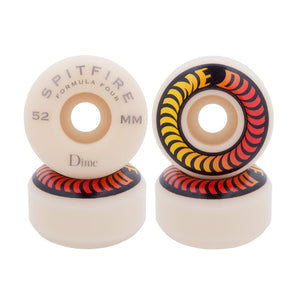 Spitfire Wheels Spitfire X Dime Formula Four 99D Red Skateboard Wheels | 52mm - TVSC