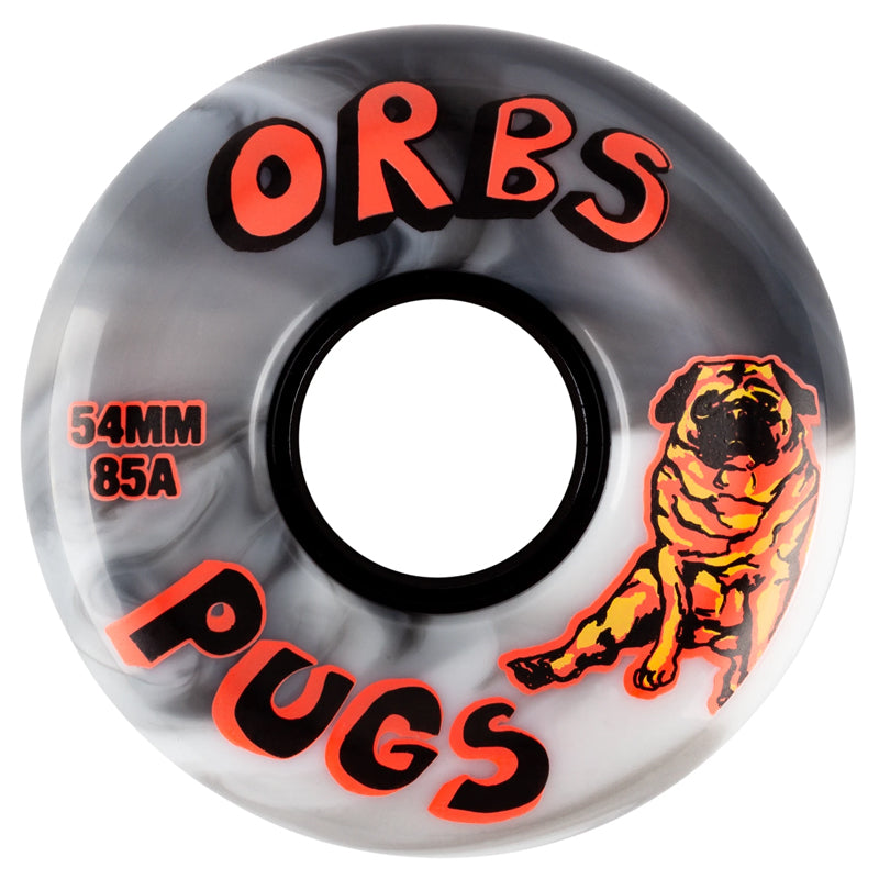 Welcome Skateboards Orbs Wheels 85A Soft Black & White | 54mm