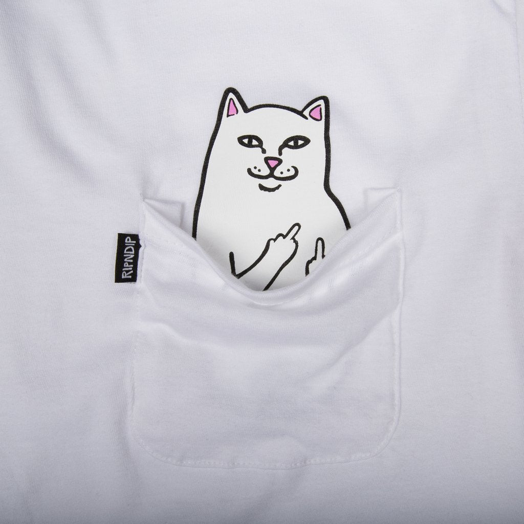 RipnDip Lord Nermal Pocket T-Shirt | White - TVSC