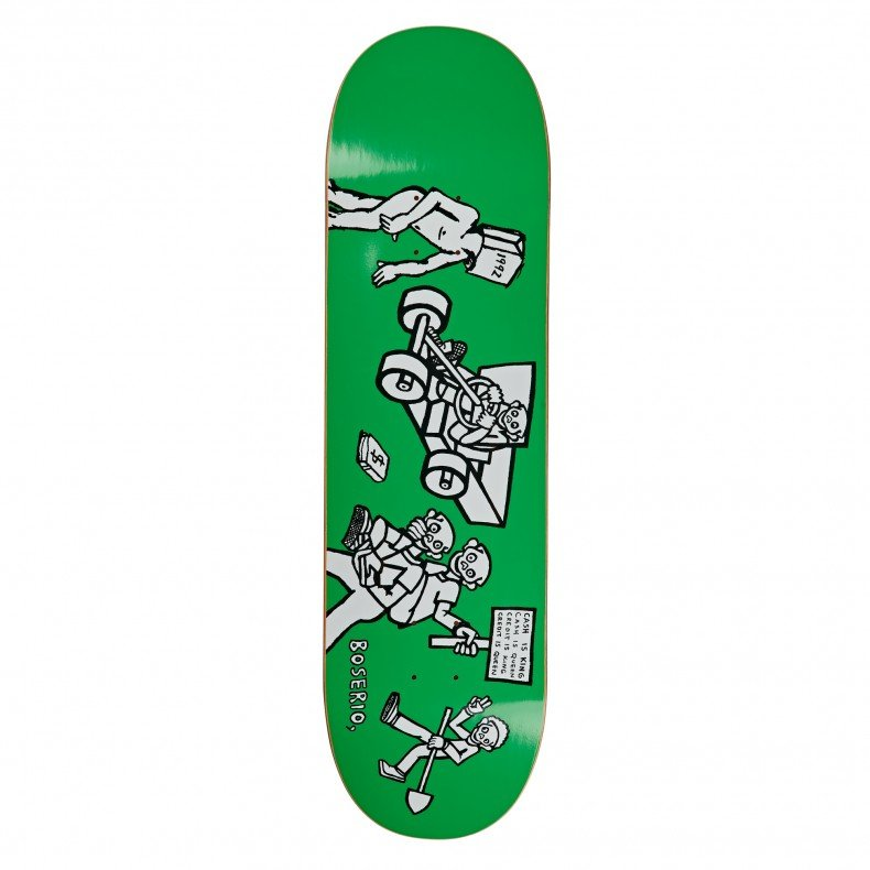 Polar Skate Co Nick Boserio Cash is Queen Skateboard Deck Green | 7.875""