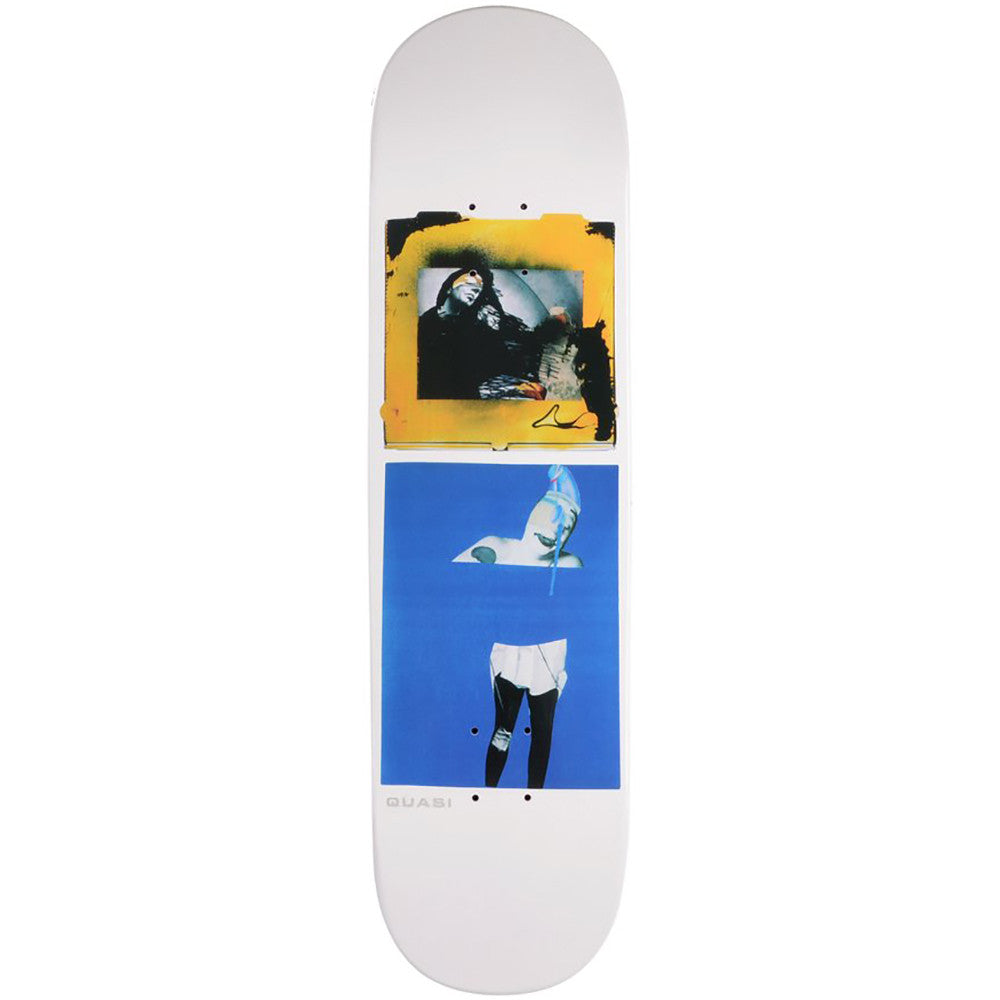 "Quasi Quasi Bob One Skateboard Deck White | 8.25"" - TVSC"
